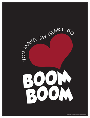 Picture of You Make My Heart Go Boom Boom (11x14)